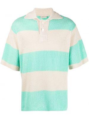 Koszula krótki rękaw bawełniana w paski Drole De Monsieur