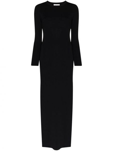 Нейлоновое приталенное платье макси с открытой спиной без рукавов Matteau