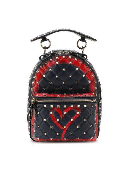 Кожаный рюкзак с шипами маленький Valentino