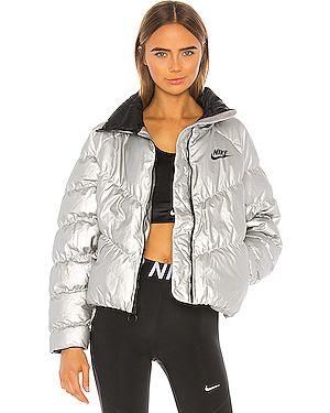Дутая куртка нейлоновая на молнии Nike