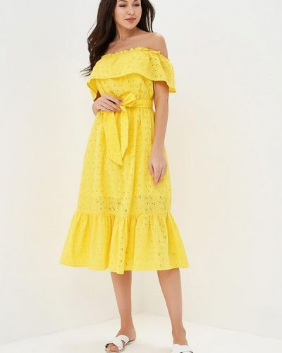 Платье с открытыми плечами весеннее Incity