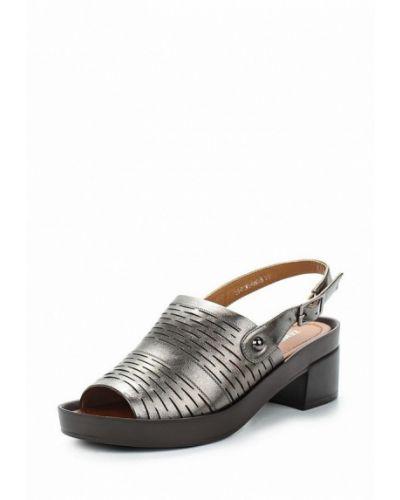 Серые босоножки на каблуке Zenden Woman