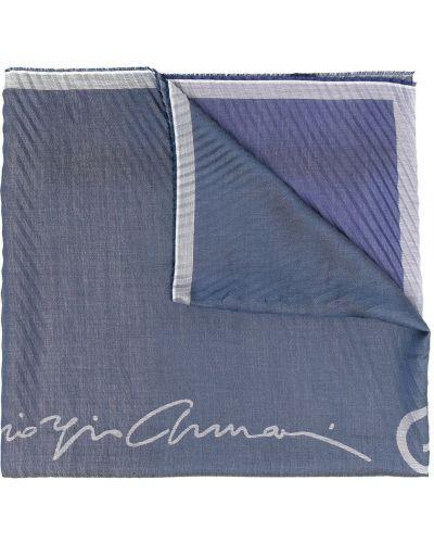 Niebieski etola w paski bawełniany Giorgio Armani