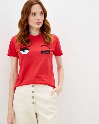 Красная зимняя футболка Chiara Ferragni Collection