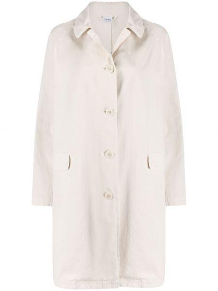 Длинное пальто бежевое на кнопках Aspesi