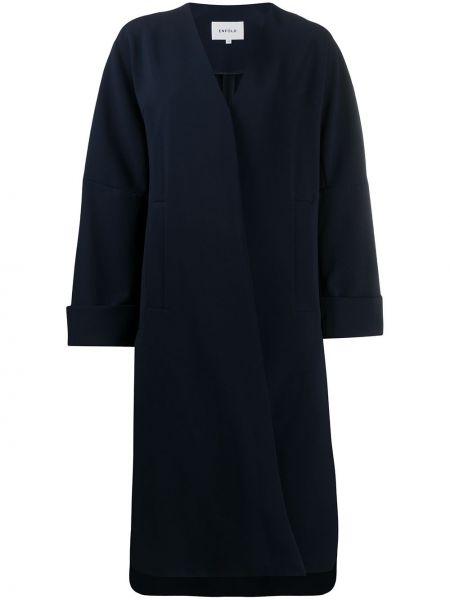 Długi płaszcz z kołnierzem niebieski Enfold