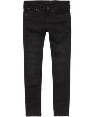Черные джинсы с поясом Pepe Jeans