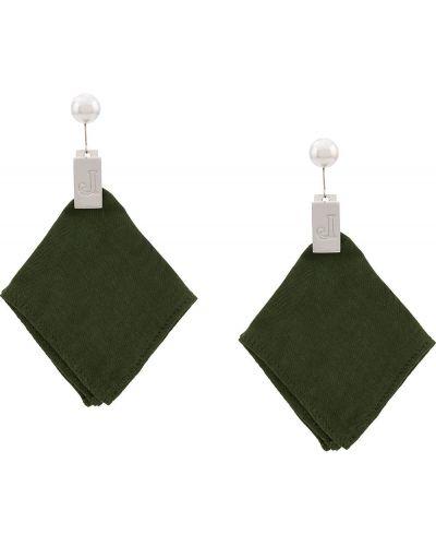 Серебряные серьги-гвоздики металлические Jacquemus