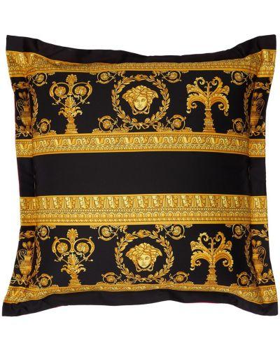 Czarny szlafrok z printem Versace