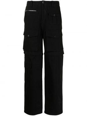 Czarne spodnie z paskiem bawełniane Phipps
