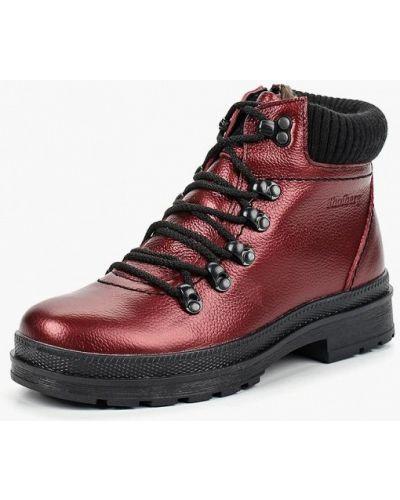 Кожаные ботинки осенние на каблуке Shoiberg