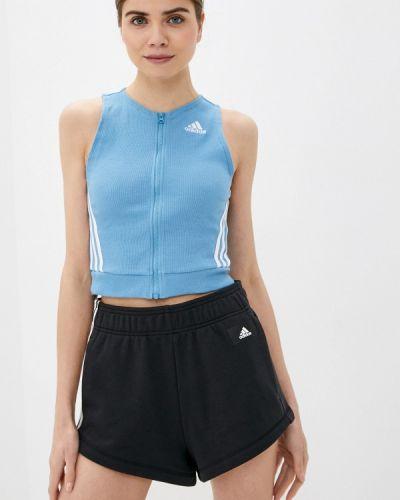 Спортивный топ - голубой Adidas