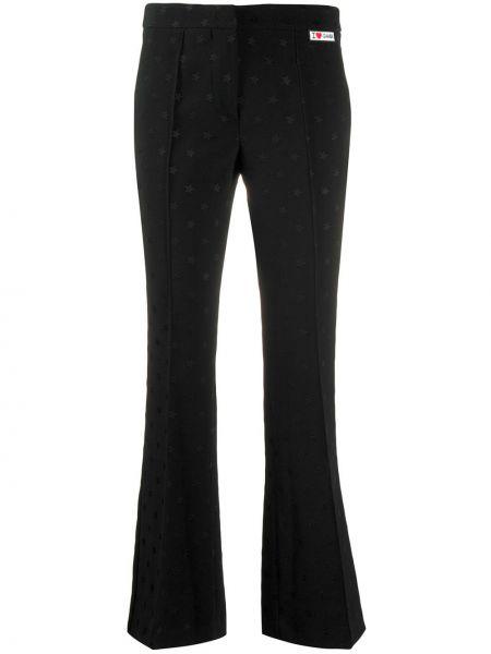 Czarne spodnie bawełniane rozkloszowane Giamba