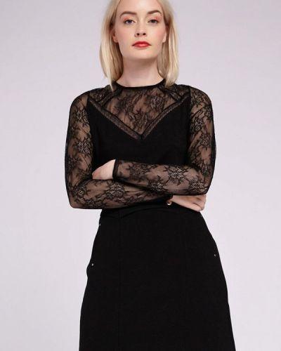 Блузка с длинным рукавом черная Morgan