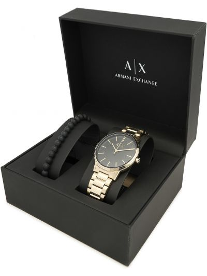 Czarny złoty zegarek Armani Exchange