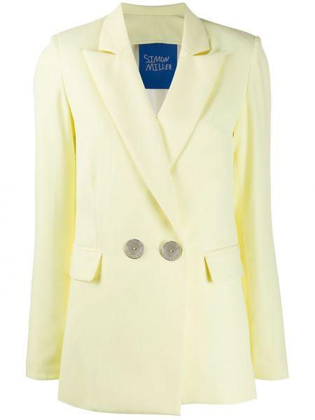 Свободная желтая куртка на пуговицах свободного кроя Simon Miller