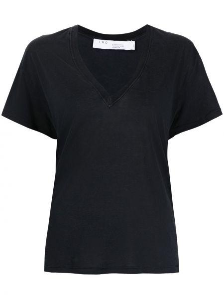 Прямая черная футболка с вырезом Iro