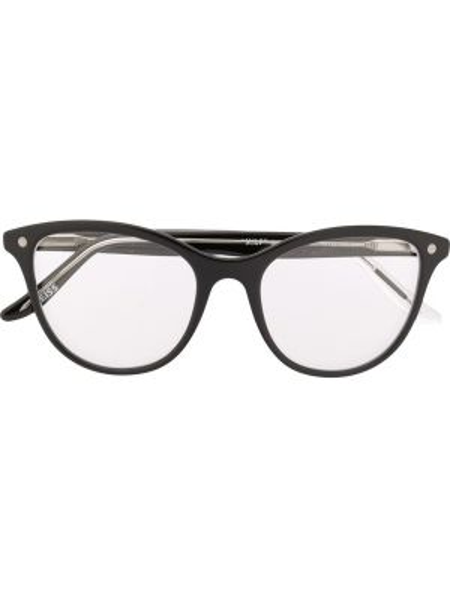 Czarne okulary srebrne Snob