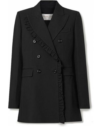 Черный пиджак двубортный с подкладкой Michael Kors Collection
