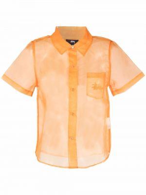 Рубашка с коротким рукавом - оранжевая Stussy