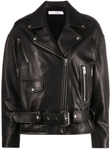 Черное пуховое длинное пальто с воротником с карманами Iro