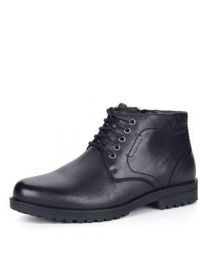 Черные шерстяные ботинки Rieker