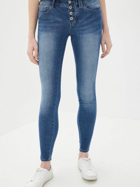 Синие джинсы-скинни с пайетками Sublevel