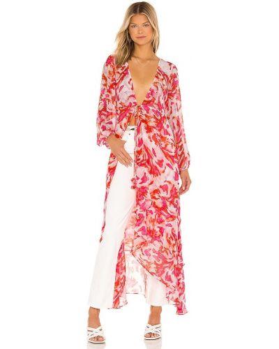 Текстильный розовый халат Misa Los Angeles