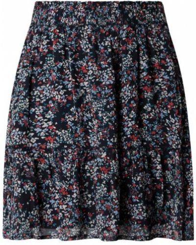 Niebieska spódnica mini z falbanami rozkloszowana Edc By Esprit