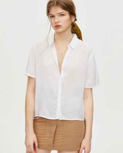 Блузка с коротким рукавом белая Pull&bear