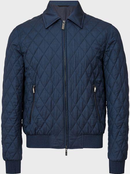 Куртка на молнии - синяя Brioni