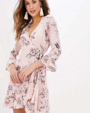 Однобортное розовое платье Indiano Natural