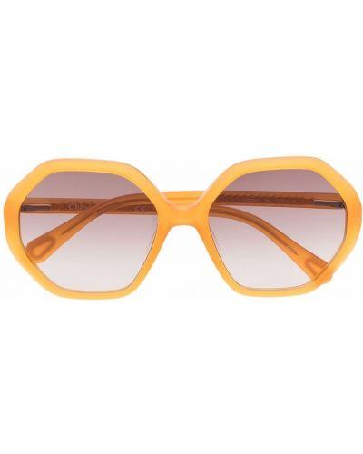 Żółte okulary Chloé Kids