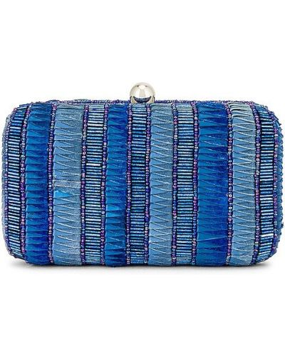 Niebieska kopertówka elegancka skórzana From St Xavier