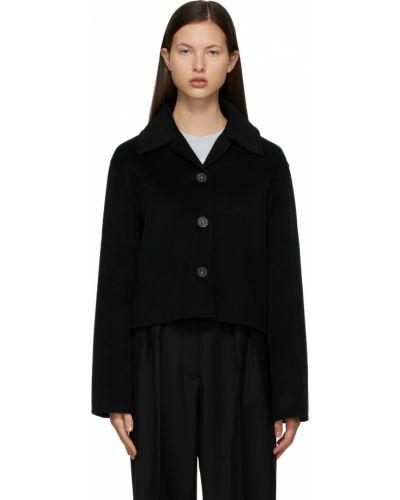 Черная длинная куртка Acne Studios
