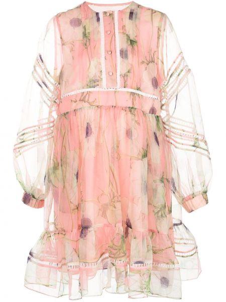 Платье макси длинное - розовое Cynthia Rowley