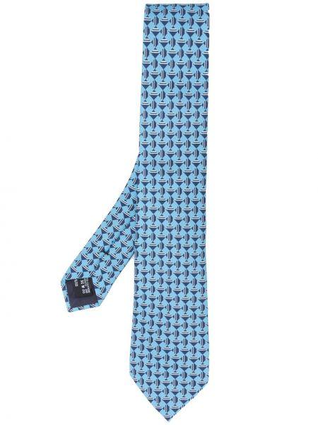 Krawat - niebieski Giorgio Armani