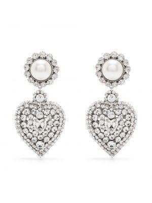 Серебряные серьги с подвесками Alessandra Rich