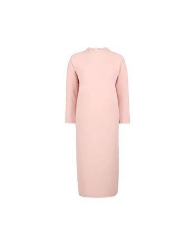 Розовое платье для офиса из вискозы Vuall
