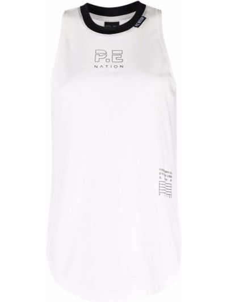 Biała koszulka bez rękawów P.e Nation