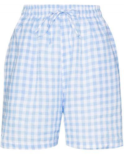 Льняные белые шорты с карманами Frankie's Bikinis
