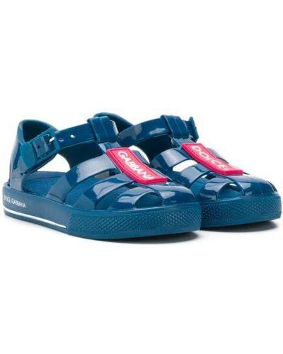 Сандалии синие Dolce & Gabbana Kids
