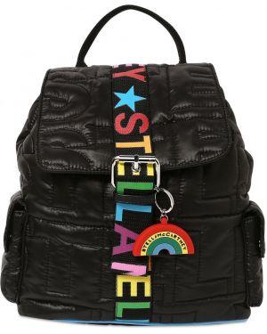 Czarny plecak pikowany klamry Stella Mccartney Kids