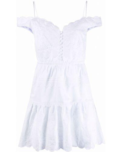 Белое хлопковое платье Self-portrait