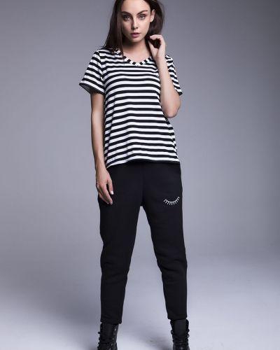 Черные брюки с карманами с открытым носком Naoko