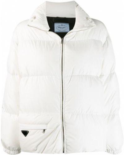 Пуховая куртка - белая Prada