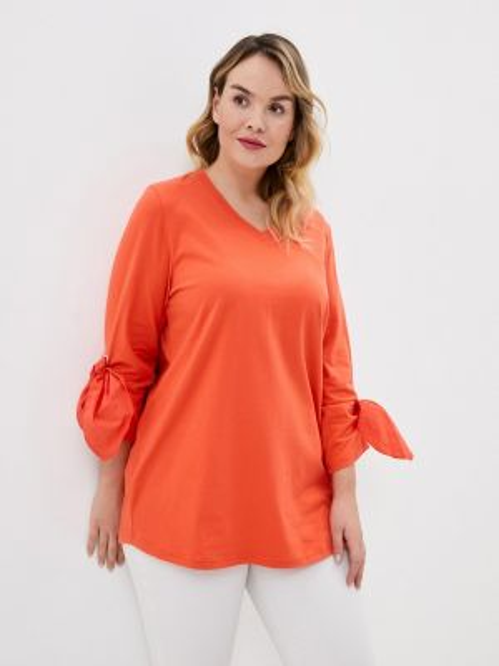 Поло футбольный оранжевый Ulla Popken