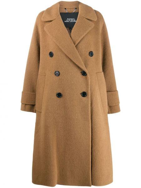 Długi płaszcz wełniany z kieszeniami Marc Jacobs