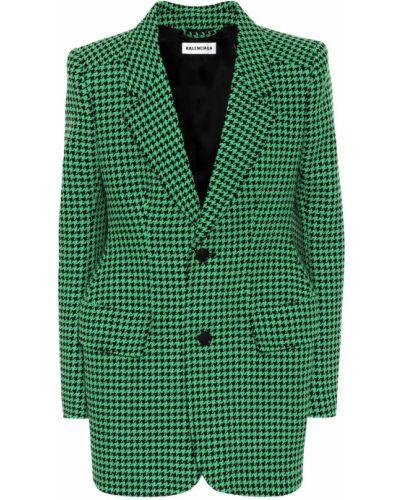 Зеленый шерстяной пиджак Balenciaga