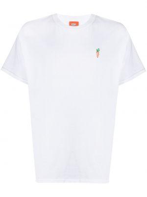 Biały t-shirt krótki rękaw z printem Carrots